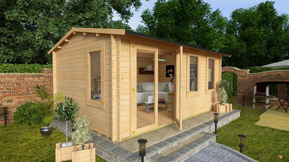 Log cabin review billyoh devon best garden buildings uk for Garden log cabins uk