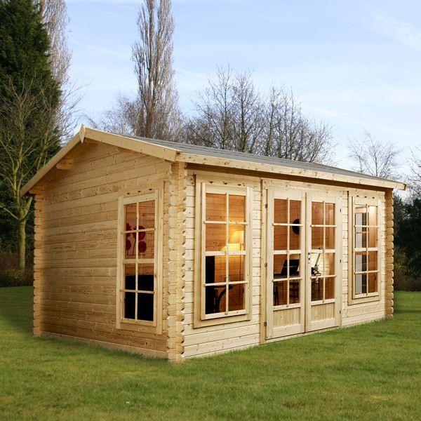 X greenacre home office director log cabin for Best garden office buildings