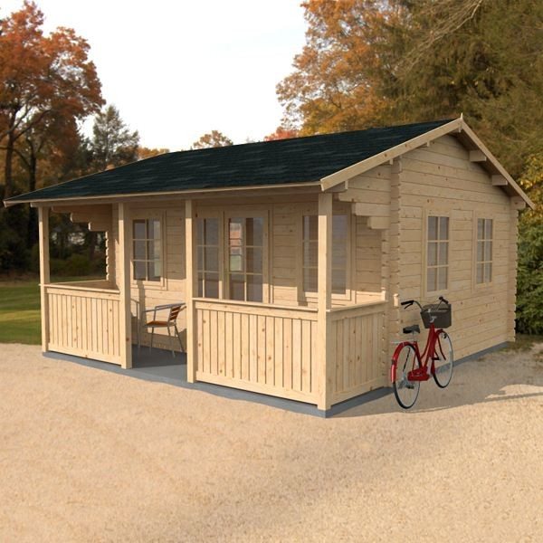 5m X Maine Log Cabin Best Garden Buildings Uk