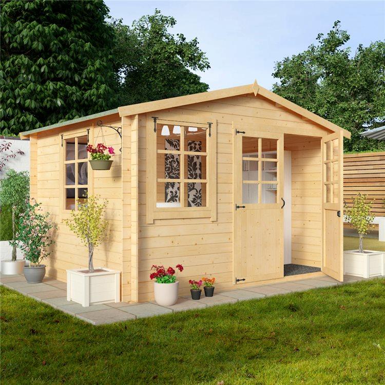 Billyoh clubman log cabin review best garden buildings uk for Garden log cabins uk